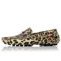ingrosso stampe animali zapatos-Uomo Mocassini in pelle Leopardo Stampato Oxfords Business Dress Scarpe Formali Oxford Scarpe Per Uomo Appartamenti Scarpe Da Sposa Maschile zapatos 36D50
