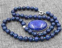 Wholesale egyptian lazuli lapis - FFREE SHIPPING** AAA Natural 8mm Egyptian Lapis Lazuli Gemstone pendant Necklace 18''18X25MM