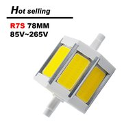 Wholesale Ultra Bright R7S LED mm mm mm Flood Light dimmable ac85 v cob LED bulb replace halogen bamp