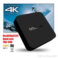 Tronsmart OEM MXQ-4K RK3229 Quad Core Android TV Box 1G / 8G WiFi HDMI2.0 4K H.265 10Bit Smart TV Box IPTV Google Play Store
