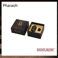 Wholesale Coil Springs Wholesale - Digiflavor Pharaoh Dripper Tank A Rip Project Spring Loaded Clamps Triple Bottom Airflow Holes Direct to Coils 100% Original