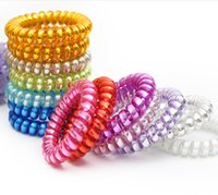 mix bling telephones - 30 Shining Bling Color Telephone Cord Hair Ties Women Adult Hair Accessories mixed color