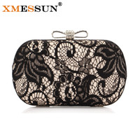 атласные сумки оптовых-Wholesale-2016 New Good Hollow Lace Clutch Bag New Lace Satin Evening Bags High-Grade Silk Bow Party Bag Exquisite Day Clutches S46