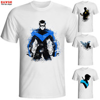 Wholesale White Dc Shirts - Wholesale- Nightwing T Shirt Night Wing DC Rebirth T-shirt Cool Novelty Funny Hip Hop Tshirt Style Men Women Print Fashion Top Tee