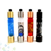 Wholesale Electronic Cigarette Drip Tips Metal - Newest 528 GOON Kit with AV Resin Able Mod and GOON 528 RDA 4 Colors with Resin Drip Tip Electronic Cigarette DHL Free