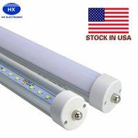 Wholesale Usa Pins - 8 feet led tubes single pin t8 FA8 Single Pin LED Tube Lights 45W 4800Lm Bulbs 2400MM led light AC85-265V + Stock In USA