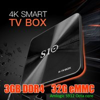 Wholesale Ram Flash - Best R-Box S10 Android 7.1 TV Boxes DDR4 2G 3G RAM 16GB 32G EMMC Flash Amlogic S912 Octa Core Internet tv box BT 2.4G 5G WiFi 1000M