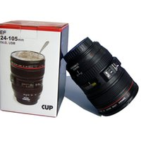 Camera Lens Mug Funny Cool Coffee Beer Cup Itens de viagem Gear Stuff Accessories Supplies Products