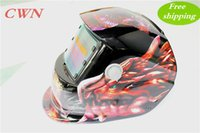 Wholesale Cheap Welding Masks - Cheap Solar auto darkening shading with grinding function welding mask helmet face mask goggles Make your hands free KL-107 Free shipping
