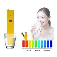 Wholesale Retail Aquariums - Wholesale- by dhl or ems 100pcs New Digital PH Meter Tester 0-14 Pocket Pen Aquarium accurate and durable with retail package