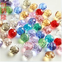 Wholesale Crystal Bicones Beads Wholesale - Wholesale- 100pcs lot Crstal Beads 6mm Crystal Bicones Rondelle Ball Beads For DIY Jewelry Products,