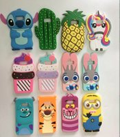 Étui Iphone 3d Minions Pas Cher-3D Cartoon Silicon minion Case Cover Mobile Phones pour Apple iPhone 7 8 6S Plus 5s SE Samsung Galaxy S8 S6 S7 EDG