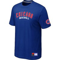 Wholesale Clothing Sale Mens T shirt Summer Baseball Chicago Cubs T shirt Cotton Short Sleeved Casual Sports Tactical T shirts