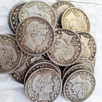 Wholesale Barber Dollars - silver plated U.S. Coins whole set(1892-1916)-P-S-O-D 68pcs Barber Quarter Dollars Retail Copy Coins