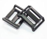 "Wholesale Plastic Bags Slider - Wholesale- 10pcs  pack 3 4""x3 4"" Plastic Multi-function Tri-Glide Slider Adjust Arched Buckle for Bags Webbing 20mm"