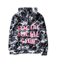 Wholesale 2017 New ANTI SOCIAL SOCIAL CLUB The Snow Camo Sweatshirts Drawstring Men And Women fleece Hoodies Brand Clothing M XL