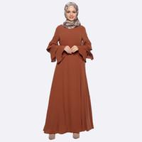 Wholesale picture clothes online - 2017 New Abaya Clothes Turkey Arab Garment Turkish robe Muslim Women Maxi Dress Pictures Islamic Dubai Kaftan Vestido Longo giyim Clothing