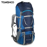 Wholesale Frames Capacity - TOMSHOO Large Capacity 70+5L Travel Bag Unisex Mountaineering Bag Internal Frame Waterproof Bicycle Backpack with Rain Cover