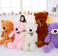 teddy tag geschenk großhandel-5 Farbe 60 80 100 120 160 180 200 300 cm Größe Riesenschale Riesen Teddybär Haut Shell Valentinstag Urlaub Geschenk Bär Plüschtiere B