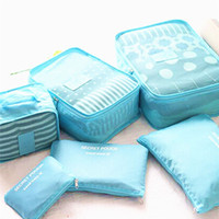 6pcs / set Mulher Travel Storage Bag High Capacity Bagagem Tidy Organizer Bolsa Mala portátil Waterproof Storage Case LZ0225