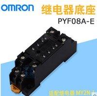 röle omronu toptan satış-OMRON OMRON röle tabanı, PYF08A-E, 7A, 250 V, MY2N tipi röle Için 8 delik adaptasyonu