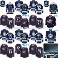 Wholesale Men Jackets Brown Black - Mens Kids Columbus Blue Jackets 13 Cam Atkinson Brandon Saad Sergei Bobrovsky Nick Foligno 17 Brandon Dubinsky Scott Hartnell Hockey Jerseys