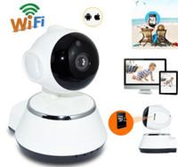 dahua network kamera mermisi toptan satış-V380 HD 720 P IP Kamera WiFi Kablosuz Akıllı Güvenlik Kamera Mikro SD Ağ Dönebilen Defender Ev Telecam HD CCTV IOS PC