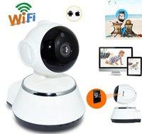 drahtlose überwachungskamera für pc großhandel-V380 HD 720P IP Kamera WiFi Wireless Smart Überwachungskamera Micro SD Netzwerk Drehbarer Defender Home Telecam HD CCTV IOS PC