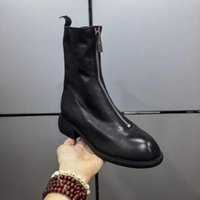 Wholesale women sexy booties for sale - New Full genuine leather ankle boots women zipper booties size Hot sale sexy Martin boots Stars love