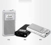 Wholesale small radio mp3 - Wholesale-PANDA   Panda 6200 mini pocket portable charging the elderly MP3 card small FM radio