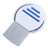 Wholesale Lice Combs Wholesale - Stainless Steel Terminator Lice Comb Nit Free Kids Hair Rid Headlice Super Density Teeth Remove Nits Comb