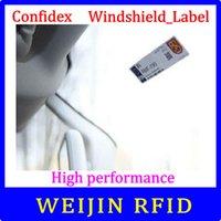 Wholesale Rfid For Car - Wholesale- Confidex Windshield label UHF RFID tag 915M EPC C1G2 ISO18000-6C Non-transferable tamper-evident label for car windshields