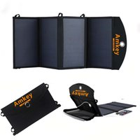 Wholesale Solar Battery Charger Dc - Wholesale-Amkey Sunpower Efficiency Solar Panel 24W Solar Charger 12V DC For Car jump starter Charger Emergency Start Battery Smartphones