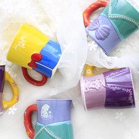 Wholesale Porcelain Mermaid - Wholesale- New Arrival Original The Little Mermaid Snow White Tangled Aishah Cartoon Porcelain Coffee Milk Golden Mugs Cup Gift