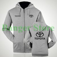 paint shop brushes - Toyota logo S shop brushed painted thick velvet zipper hooded sweatshirt for women and men