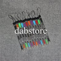 Wholesale Stainless Steel Wax Carving - Top sale 120mm wax carving dab tool with plastic tube package stainless steel wax dabber tools silicone tip end smoking metal dab tools