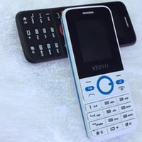 Wholesale Thai Goods Wholesale - 2017 Original Servo Cellphone 8240 Black And White Dual Sim Card Mobile Phone With Key With Good Quality Freely Shipping