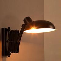 rustikale lampen großhandel-Lager Rustic Retractable Wall Lamp Loft Eisen Bar Licht im japanischen Stil Industrielle Wandleuchte Restaurant Retro Lampen Arandela