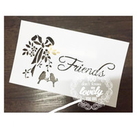 Wholesale Cards For Words - DIY stencils kit words (3pcs) Masking template For Scrapbooking,cardmaking,painting,DIY cards-words of Friends 079