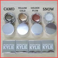 Wholesale Golden Shadow - New Kylie Creme Shadow Kylie Holiday Editon Kyshadow Creme Eyebrow Creme Birthday Edition Gold Camo Golden Plum Yellow Snow Christmas gifts