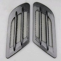 Wholesale Decoration Vent Cover - New 2x Car Side Carbon Fiber Air Vent Cover Hole Intake Duct Flow Grille Decoration Sticker for VW Cruze Audi A3 A4 BMW F10 Polo