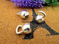 ювелирные изделия оптовых-Wholesale- 12pcs- Antique Tibetan Silver Kettlebell Charms Pendants, DIY Supplies, Jewelry Making 15x9X7mm