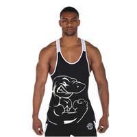 Wholesale Loose Tank Top Pattern - 2017 Hot Sale GYM Euramerica Sports Tank Tops For Men Fitness Stringer Cotton Vest Shirts Bodybuilding Mens Muscle Tanks Tops