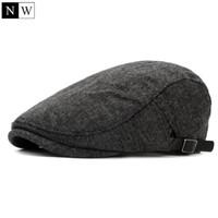 All ingrosso-2016 solido lana d epoca berretto da uomo berretto piatto cappelli  invernali per gli uomini berretti cappello femminile strillone berretto a  ... c20aee5fb834