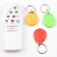 Wholesale rfid reader writer 125khz - Handheld 4 Frequency 125khz 250k 375k 500k RFID Copier  Duplicator  Cloner ID EM Reader & Writer &3pcs EM4305 T5577 Rewrite Tag