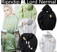 Wholesale Chicken Cat - Ripndip hoodie Chicken Cat CatDDIP Cats Cat kanye west hoodie sweatshirt Jackets Men & Women Wearing Hoodies