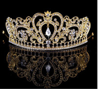 2018 Bridal Diamond Jewelry crystal gold and silver crown hair