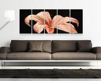 metall moderne abstrakte wandkunst großhandel-Rosa Blume Aluminium poliert moderne hochwertige abstrakte Metall Wand Kunst Malerei Sculpure für Heimtextilien