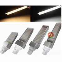 Wholesale G24 8w Cool White - X100 Horizontal Plug lights led corn bulb E27 G24 G23 SMD2835 180 degeree AC 85-265V 8W 10W 12W 15W 18W 21W By DHL