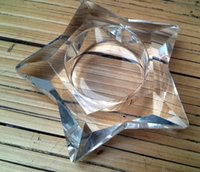 Wholesale Star Shaped Candles - Clear Glass Star Shaped Candle Holder wedding Party Holiday DIY Decorations tealight holders Thick Glass practical favors gift